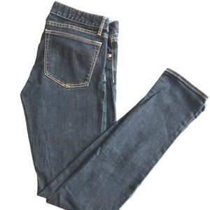 gap skinny jeans, dark wash, long